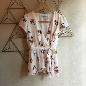 june & hudson (Nordstrom's)- Floral wrap shirt